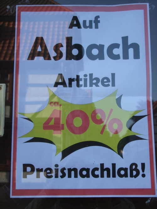 Plakat Asbach-Artikel