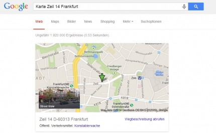 Fenster Google Maps