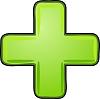 Grünes Pluszeichen