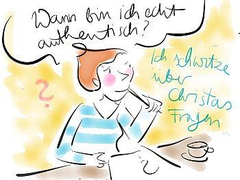 Nathalie schwitzt