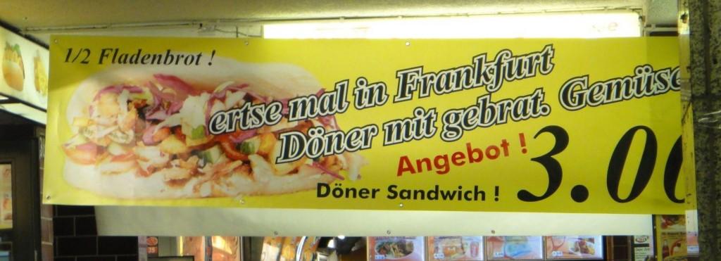 Plakat mit Rechtschreibfehler