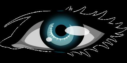 Auge, das beobachtet