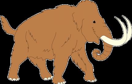 Ein Mammut im Comicstil