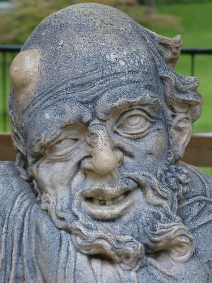 Eine ziemlich hässliche Statue