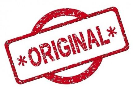 """Stempel mit der Aufschrift """"Original"""""""