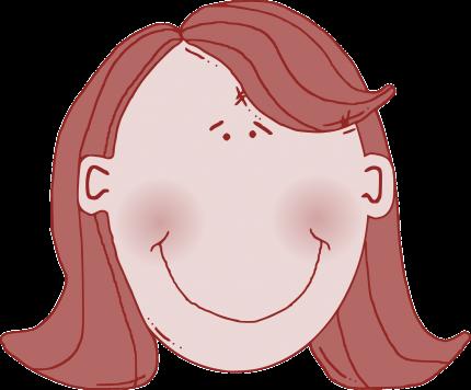 Comicfrau lächelt