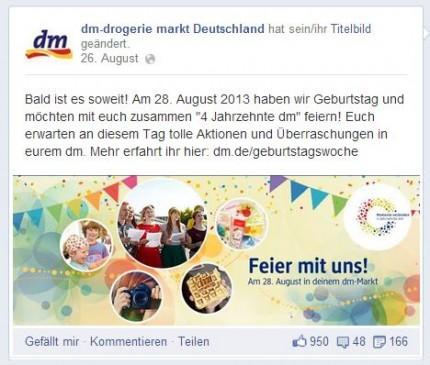 Posting dm-Drogerie