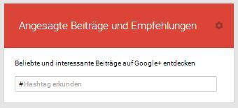 Angesagte Beiträge auf Google+