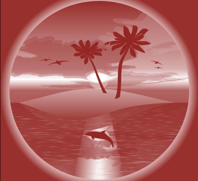 Traumstrand mit Delfin, scheußlich ;-)