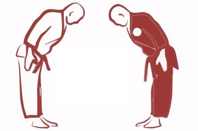 Zwei Karatekämpfer