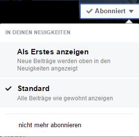 Abonnieren bei Facebook