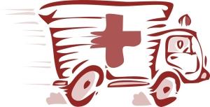 Amulanz im Notfalleinsatz