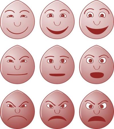 Verschiedene Emotionen