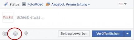 Facebook Emojis einfügen
