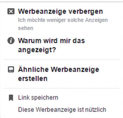 Bewertung von Facebook-Werbeanzeigen