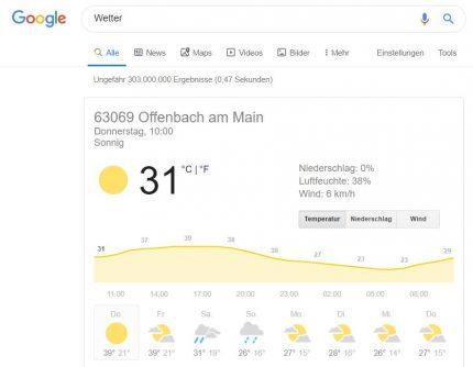 Google Wetterfrosch