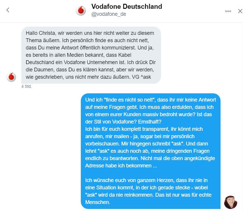 Mit Vodafone auf Twitter
