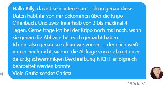 Vodafone Twitter 4.8.2017 Christas Antwort