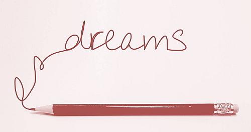 Bleistift mit Schriftzug Dreams