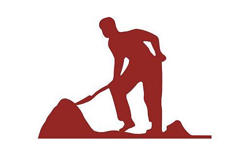 Ein Bauarbeiter