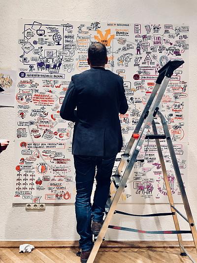 Michael Geiß macht Visualisierungen