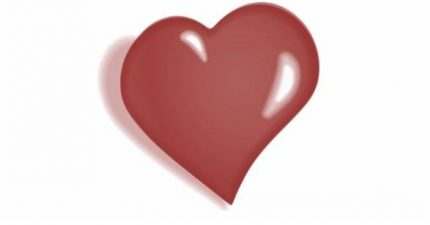 Herz im Querformat