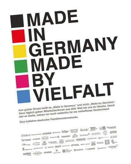 Anzeigeninitiative Familienunternehmen_Made in Germany Made by Vielfalt