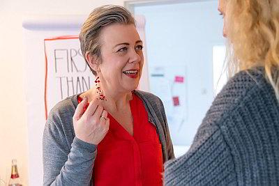 Katja Rosenbohm im Gespräch (c) Gabi Budulig