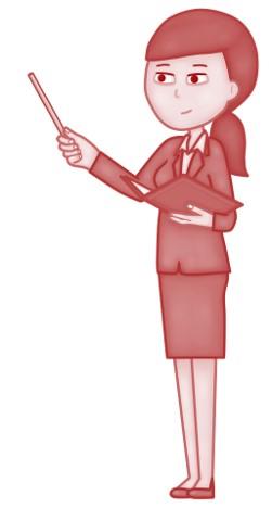 Frau hält einen Vortrag
