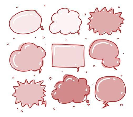 Viele Sprechblasen