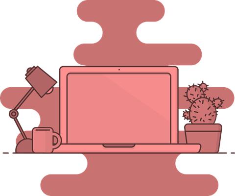 Laptop für den Aufbau eines Werbetextes